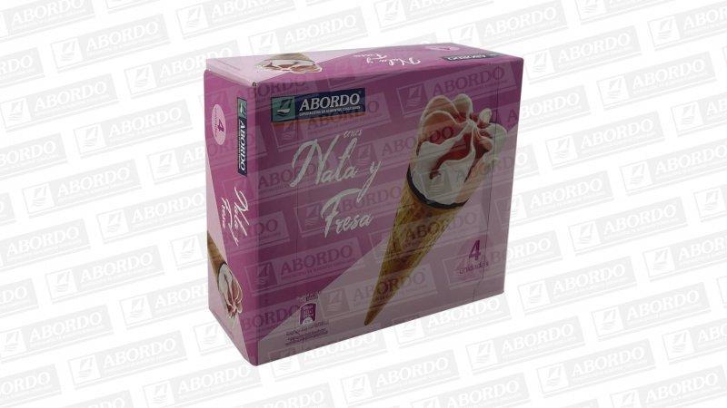 Conos de Nata y Fresa (4x110 ml)
